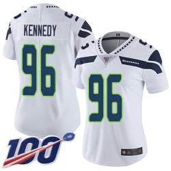 Limited Women's Cortez Kennedy White Road Jersey - #96 Football Seattle Seahawks 100th Season Vapor Untouchable