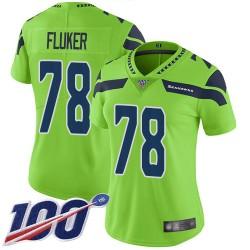Limited Women's D.J. Fluker Green Jersey - #78 Football Seattle Seahawks 100th Season Rush Vapor Untouchable