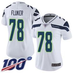 Limited Women's D.J. Fluker White Road Jersey - #78 Football Seattle Seahawks 100th Season Vapor Untouchable