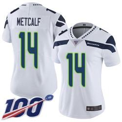 Limited Women's D.K. Metcalf White Road Jersey - #14 Football Seattle Seahawks 100th Season Vapor Untouchable
