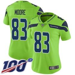 Limited Women's David Moore Green Jersey - #83 Football Seattle Seahawks 100th Season Rush Vapor Untouchable