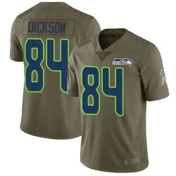 Limited Youth Ed Dickson Olive Jersey - #84 Football Seattle Seahawks 2017 Salute to Service