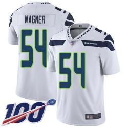 Limited Men's Bobby Wagner White Road Jersey - #54 Football Seattle Seahawks 100th Season Vapor Untouchable