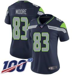 Limited Women's David Moore Navy Blue Home Jersey - #83 Football Seattle Seahawks 100th Season Vapor Untouchable