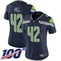 Limited Women's Delano Hill Navy Blue Home Jersey - #42 Football Seattle Seahawks 100th Season Vapor Untouchable