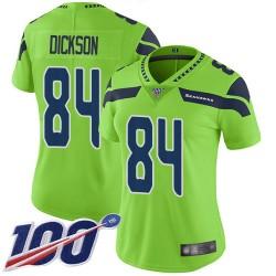 Limited Women's Ed Dickson Green Jersey - #84 Football Seattle Seahawks 100th Season Rush Vapor Untouchable