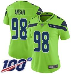 Limited Women's Ezekiel Ansah Green Jersey - #98 Football Seattle Seahawks 100th Season Rush Vapor Untouchable