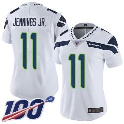 Limited Women's Gary Jennings Jr. White Road Jersey - #11 Football Seattle Seahawks 100th Season Vapor Untouchable