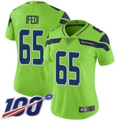 Limited Women's Germain Ifedi Green Jersey - #65 Football Seattle Seahawks 100th Season Rush Vapor Untouchable