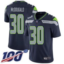 Limited Men's Bradley McDougald Navy Blue Home Jersey - #30 Football Seattle Seahawks 100th Season Vapor Untouchable