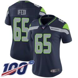 Limited Women's Germain Ifedi Navy Blue Home Jersey - #65 Football Seattle Seahawks 100th Season Vapor Untouchable