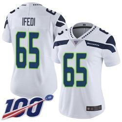 Limited Women's Germain Ifedi White Road Jersey - #65 Football Seattle Seahawks 100th Season Vapor Untouchable