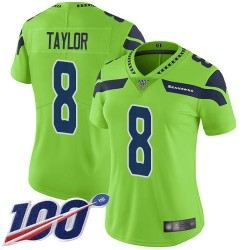 Limited Women's Jamar Taylor Green Jersey - #8 Football Seattle Seahawks 100th Season Rush Vapor Untouchable