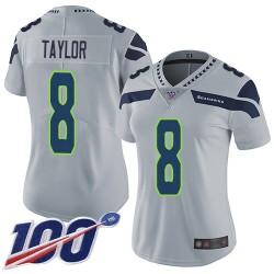 Limited Women's Jamar Taylor Grey Alternate Jersey - #8 Football Seattle Seahawks 100th Season Vapor Untouchable