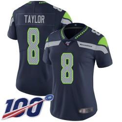 Limited Women's Jamar Taylor Navy Blue Home Jersey - #8 Football Seattle Seahawks 100th Season Vapor Untouchable