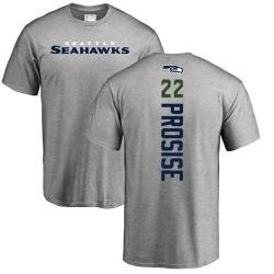 C. J. Prosise Ash Backer - #22 Football Seattle Seahawks T-Shirt