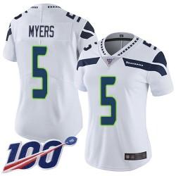 Limited Women's Jason Myers White Road Jersey - #5 Football Seattle Seahawks 100th Season Vapor Untouchable