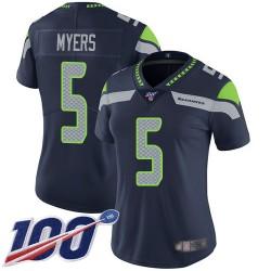 Limited Women's Jason Myers Navy Blue Home Jersey - #5 Football Seattle Seahawks 100th Season Vapor Untouchable