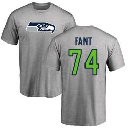George Fant Ash Name & Number Logo - #74 Football Seattle Seahawks T-Shirt