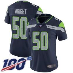 Limited Women's K.J. Wright Navy Blue Home Jersey - #50 Football Seattle Seahawks 100th Season Vapor Untouchable