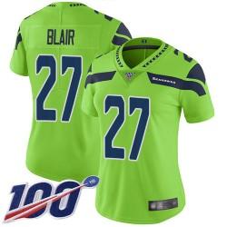 Limited Women's Marquise Blair Green Jersey - #27 Football Seattle Seahawks 100th Season Rush Vapor Untouchable
