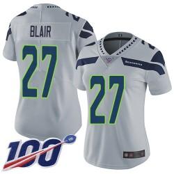 Limited Women's Marquise Blair Grey Alternate Jersey - #27 Football Seattle Seahawks 100th Season Vapor Untouchable