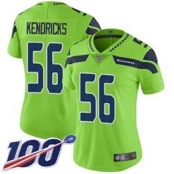 Limited Women's Mychal Kendricks Green Jersey - #56 Football Seattle Seahawks 100th Season Rush Vapor Untouchable