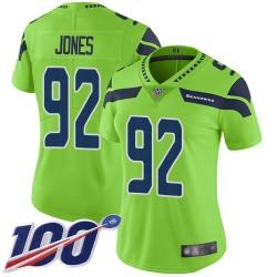 Limited Women's Nazair Jones Green Jersey - #92 Football Seattle Seahawks 100th Season Rush Vapor Untouchable