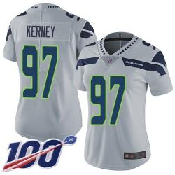 Limited Women's Patrick Kerney Grey Alternate Jersey - #97 Football Seattle Seahawks 100th Season Vapor Untouchable