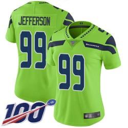 Limited Women's Quinton Jefferson Green Jersey - #99 Football Seattle Seahawks 100th Season Rush Vapor Untouchable