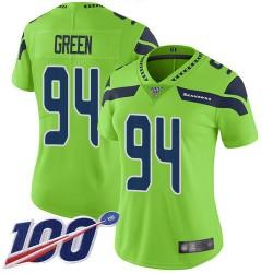 Limited Women's Rasheem Green Green Jersey - #94 Football Seattle Seahawks 100th Season Rush Vapor Untouchable