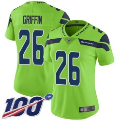 Limited Women's Shaquill Griffin Green Jersey - #26 Football Seattle Seahawks 100th Season Rush Vapor Untouchable