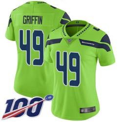 Limited Women's Shaquem Griffin Green Jersey - #49 Football Seattle Seahawks 100th Season Rush Vapor Untouchable