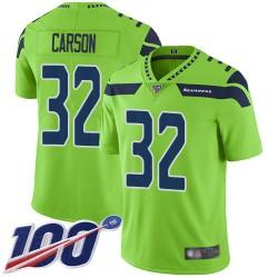 Limited Men's Chris Carson Green Jersey - #32 Football Seattle Seahawks 100th Season Rush Vapor Untouchable