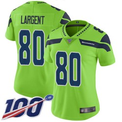 Limited Women's Steve Largent Green Jersey - #80 Football Seattle Seahawks 100th Season Rush Vapor Untouchable
