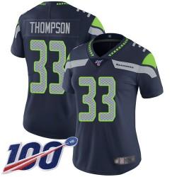 Limited Women's Tedric Thompson Navy Blue Home Jersey - #33 Football Seattle Seahawks 100th Season Vapor Untouchable