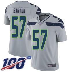 Limited Youth Cody Barton Grey Alternate Jersey - #57 Football Seattle Seahawks 100th Season Vapor Untouchable