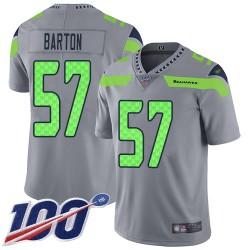 Limited Men's Cody Barton Silver Jersey - #57 Football Seattle Seahawks 100th Season Inverted Legend