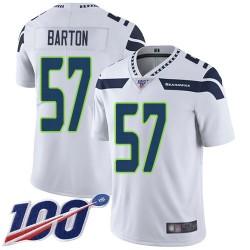 Limited Men's Cody Barton White Road Jersey - #57 Football Seattle Seahawks 100th Season Vapor Untouchable
