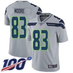 Limited Youth David Moore Grey Alternate Jersey - #83 Football Seattle Seahawks 100th Season Vapor Untouchable