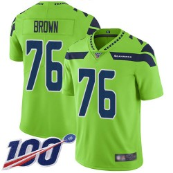 Limited Youth Duane Brown Green Jersey - #76 Football Seattle Seahawks 100th Season Rush Vapor Untouchable