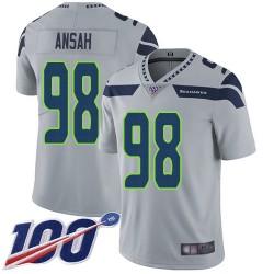 Limited Youth Ezekiel Ansah Grey Alternate Jersey - #98 Football Seattle Seahawks 100th Season Vapor Untouchable