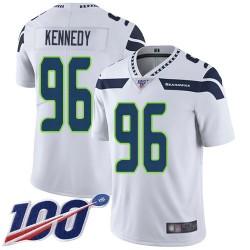 Limited Men's Cortez Kennedy White Road Jersey - #96 Football Seattle Seahawks 100th Season Vapor Untouchable