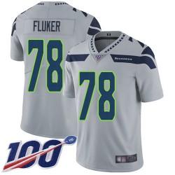 Limited Men's D.J. Fluker Grey Alternate Jersey - #78 Football Seattle Seahawks 100th Season Vapor Untouchable
