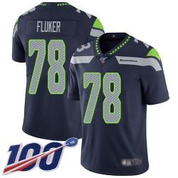 Limited Men's D.J. Fluker Navy Blue Home Jersey - #78 Football Seattle Seahawks 100th Season Vapor Untouchable