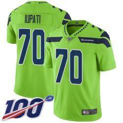 Limited Youth Mike Iupati Green Jersey - #70 Football Seattle Seahawks 100th Season Rush Vapor Untouchable