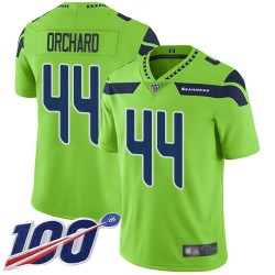 Limited Youth Nate Orchard Green Jersey - #44 Football Seattle Seahawks 100th Season Rush Vapor Untouchable