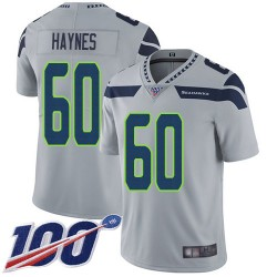 Limited Youth Phil Haynes Grey Alternate Jersey - #60 Football Seattle Seahawks 100th Season Vapor Untouchable