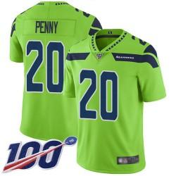 Limited Youth Rashaad Penny Green Jersey - #20 Football Seattle Seahawks 100th Season Rush Vapor Untouchable
