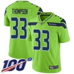 Limited Youth Tedric Thompson Green Jersey - #33 Football Seattle Seahawks 100th Season Rush Vapor Untouchable